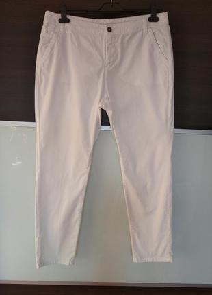 Белые коттоновые летние штаны, брюки yessica c&a