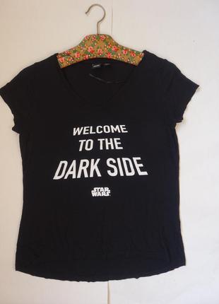 Черная футболка в стиле star wars m- размера
