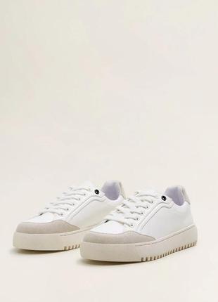 Новые белые кеды кроссовки бетские для мальчика mango
