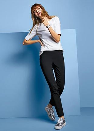 Прямые.эластичные брюки из эластичной вискозной смеси tcm tchibo германия