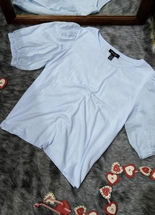 Блуза кофточка с акцентными рукавами фонариками new look