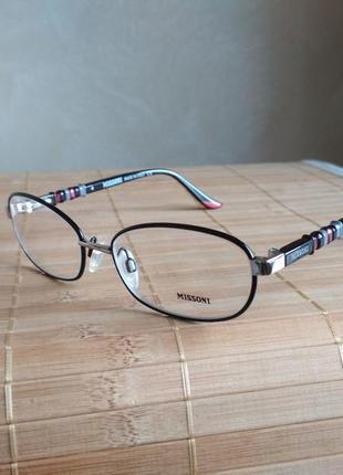 Фирменная качественная женская оправа под линзы оригинал missoni mi23601 очки
