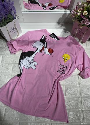Женская футболка мультик в стиле disney🇹🇷😍