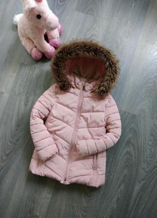 6-7л zara куртка парка зимняя