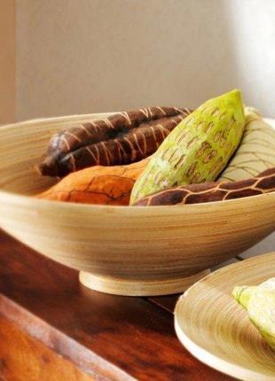 Бамбуковая миска тарелка ваза для фруктов фруктовница - bamboo bowl 30см