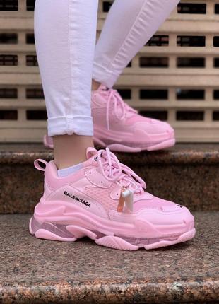 Кроссовки balenciaga triple s pink кросівки