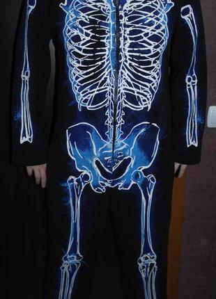 F f skeleton скелет светящийся кигуруми слип комбинезон человечек пижама  домашний костюм1 ... bebd36ef74a1f