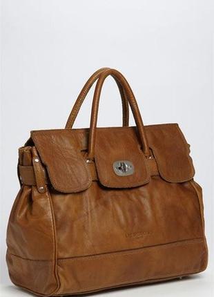 Кожаная коричневая сумка