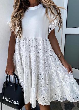 Свободное платье прошва