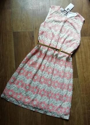 Актуальное гипюровое, кружевное платье, сукня, сарафан, плаття в цветы