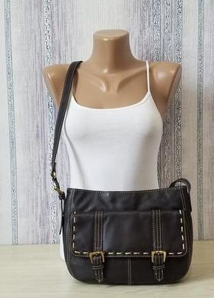 Laura ashley кожаная сумка кроссбоди, через плечо.