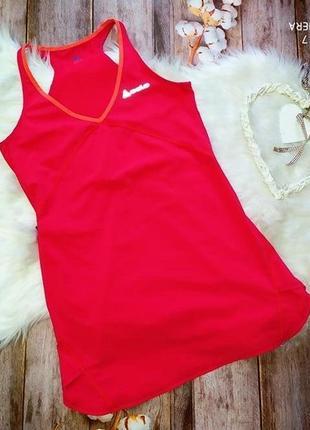 Малиновое спортивное платье odlo. размер s