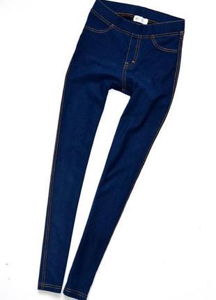 H&m.  леггинсы под джинсы на девочку 9-10 лет. рост 140 см.