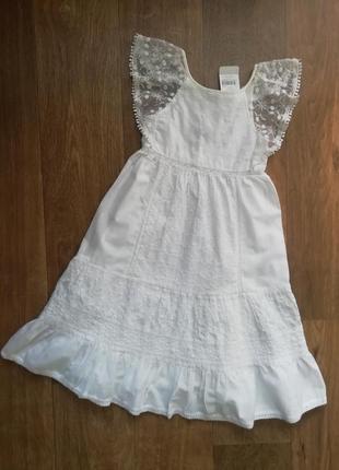 Шикарное нарядное батистовое платье с кружевом, прошва, сукня, сарафан, плаття