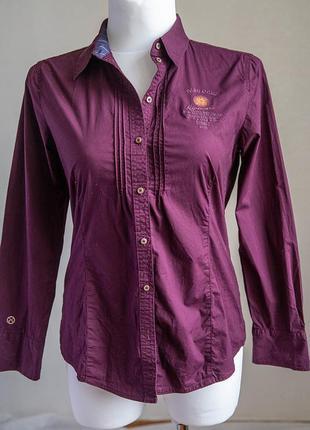 Стильная фиолетовая рубашка tom tailor