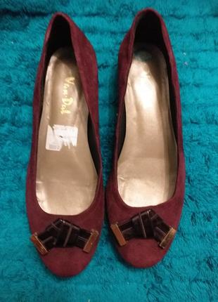 Замшевые туфли 28 см по стельке