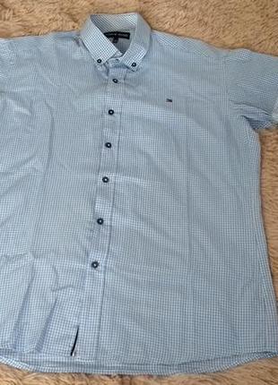 Мужская рубашка  от tommy hilfiger. размер ххл.