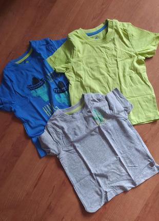 Комплект из 3-х хлопковых футболок. германия.