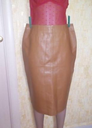 Красивая  100% кожаная юбка/кожаная юбка/юбка/платье/юбка карандаш