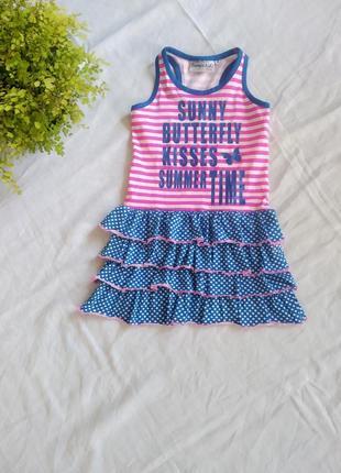 Суперовое новое натуральное трикотажное платье europe kids uk 5-6 eur 110-116