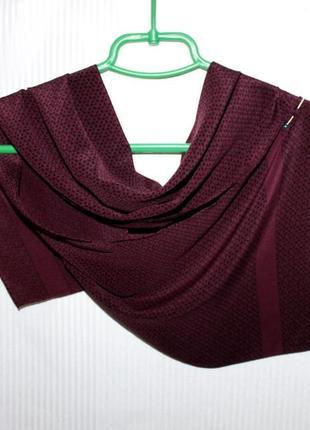 Воздушный тонкий шарф кашне 100% шёлк skanova