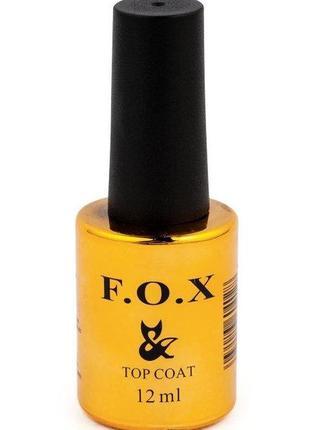 Топ каучуковый без липкого слоя для ногтей f.o.x rubber top no wipe , 12мл