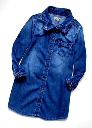 Next. супер крутое джинсовое платье рубашка на 2-3 года. рост 98 см