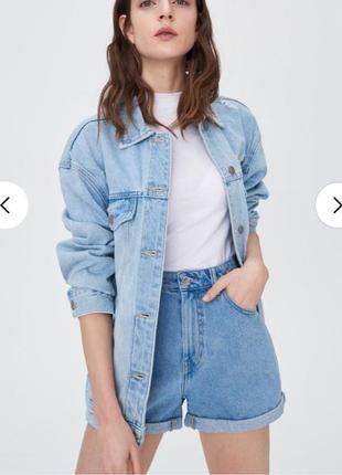 Джинсові шорти mom fit