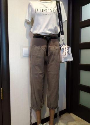 Легкие тонкие хлопковые бриджи капри брюки штаны бананы