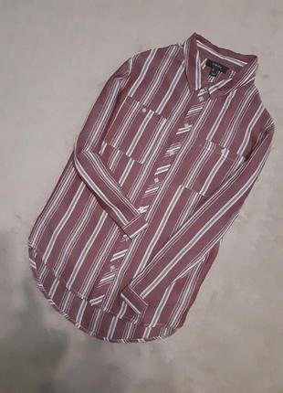 Красивая рубашка хлопок в полоску не принт размер 18 primark
