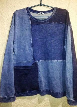 Стильный интересный  комбинированный свитшот,кофта,свитер