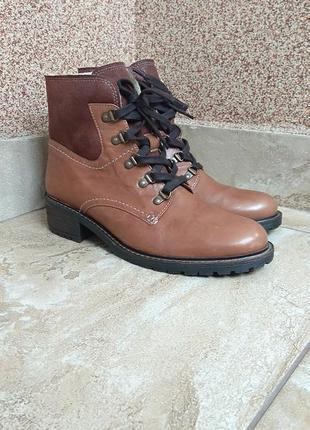 Зимові шкіряні ботінки gabor boots 41,5-42 ботинки зимние кожа