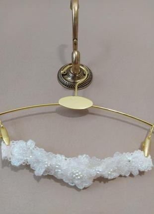 Подвязка, підв'язка на ножку невесте. расшита вручную.