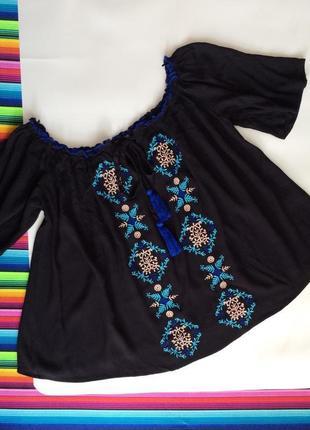 Кофта блузка вышиванка primark размер xs,s