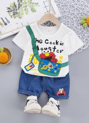 Костюм літній для хлопчика білий the cookie 4153