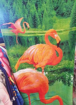 Пляжное полотенце фламинго