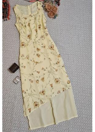 Летнее длинное платье gerry weber/с разрезами/вискоза