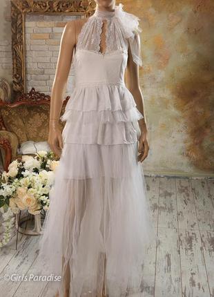 Дизайнерское свадебное платье для фотосессии бохо винтаж стиль