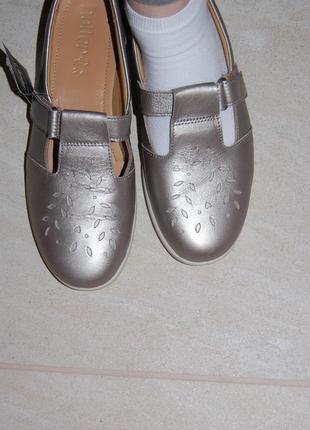 Туфли сандали кожа на липучке 40 р 26 см англия2 фото