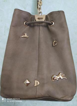 Кожаная сумка от итальянского бренда  diana vicenza