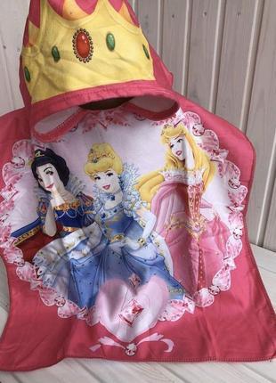 Детское полотенце пончо принцессы