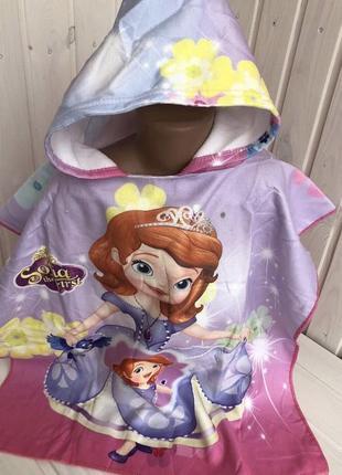 Детское полотенце пончо анна