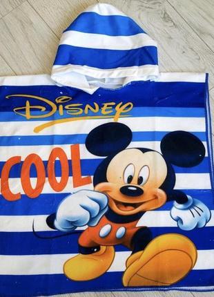 Детское полотенце пончо микки маус