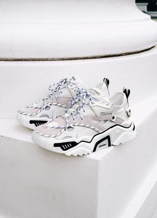 Шикарные женские кроссовки calvin klein white белые5 фото