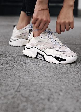 Шикарные женские кроссовки calvin klein white белые6 фото