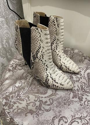 Ботинки , сапоги кожа питона