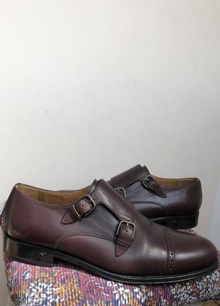 Баклажановые / бордовые кожаные классические мужские туфли caramelo