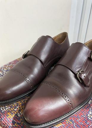 Баклажановые / бордовые кожаные классические мужские туфли caramelo3 фото