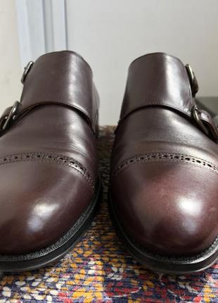 Баклажановые / бордовые кожаные классические мужские туфли caramelo6 фото