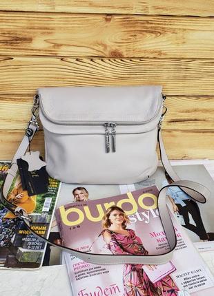 Женская кожаная сумка через плечо polina & eiterou полина жіноча